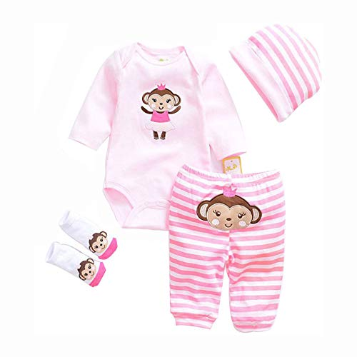 LLX Moda Ropa De Bebé Recién Nacido Reborn Baby Girl Doll Ropa Para 20-22 Pulgadas 50-55 Cm Doll Gifts