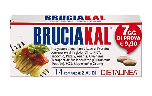 BRUCIAKAL 14 COMPRESSE Integratore alimentare che può essere d'aiuto per ridurre l'assorbimento di carboidrati, grassi, zuccheri.