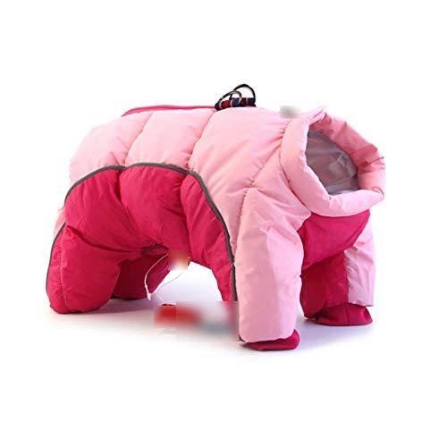Chaqueta Chihuahua de invierno, abrigo pequeos perros, ropa de cachorro, reflectante, clido, disfraz de bulldog francs, mediano-pink-M