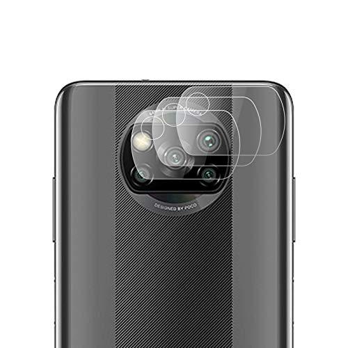 ROVLAK Cámara Protector de Pantalla para Xiaomi Poco X3 NFC Cámara Cristal Templado Protector 3-Pack 9H Anti-Explosión Anti-Rasguños Cámara Lens Protector para Xiaomi Poco X3 NFC