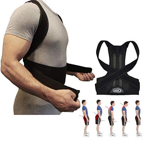 ZSZBACE Verstellbarer Rückenstützen Geradehalter, Haltungskorrektur gegen Rücken- Schulterschmerzen für Damen und Herren, 5 Größen (L (90-105cm))