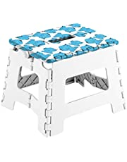 Arregui Elefante Taburete Multiusos, Blanco y Azul, 25x20x21 cm