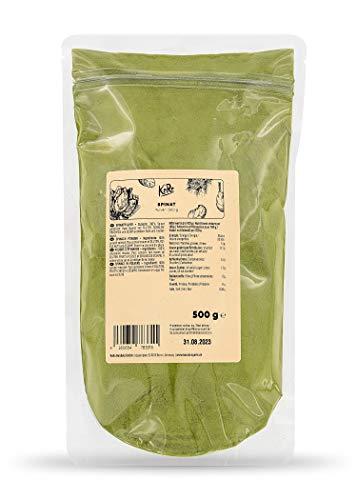 KoRo - Spinatpulver 500 g - aus 100% getrocknetem und zerkleinertem Spinat - zum natürlichen Färben von Lebensmitteln - reich an Vitaminen
