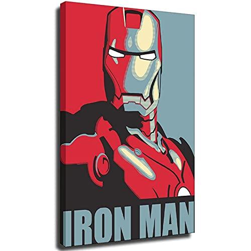 Ironman HOPE Marvel Poster Capitán América Vengadores Deadpool Arty Efecto dormitorio Poster Regalo Unframe-style1 30 × 45 cm