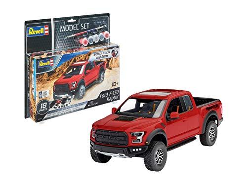 Revell Model Set 67048 Easy Click Maquette de Ford F-150 Raptor Kit plástico, Color Rojo