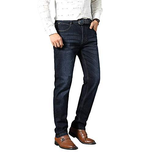 Vaqueros para Hombre Primavera y Verano Los Negocios se están ajustando Vaqueros de Pierna Recta Pantalones Casuales de Gran tamaño, Finos y versátiles 36