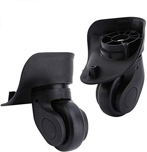 Ruedas de Repuesto Maleta 1 Par Ruedas de PVC para Equipaje Maleta Trolley (W041-2 S)