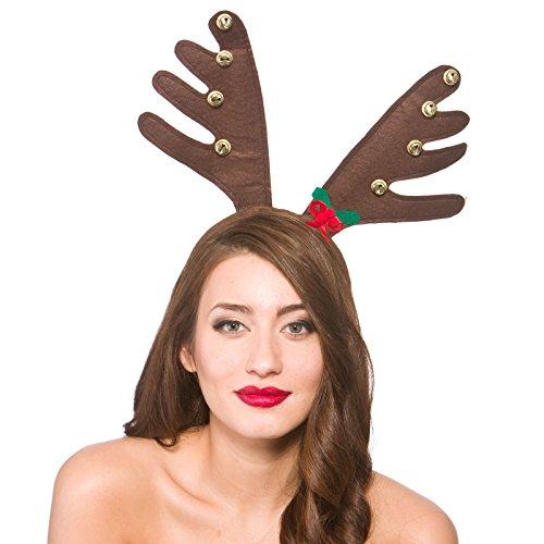 Deluxe Reindeers Antlers With Bells