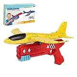 FWS Airplane Jouet, Bubble Catapulte Plane Jouet Airplane Landplane Jouets Airplane Toys pour Enfants Avion Catapult Guns Tir De Jeunes Jouets en Plein Air Sport Jouets Rouge