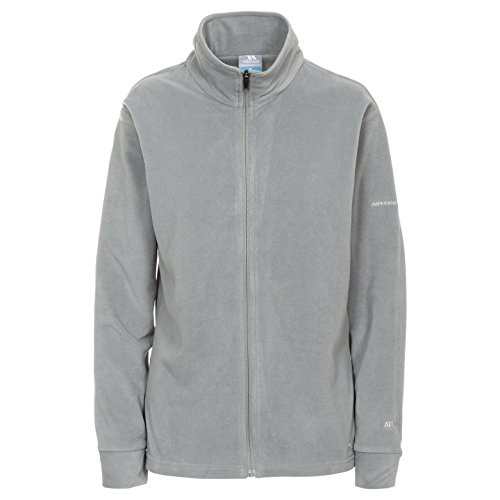 Trespass Vertex, Smoke, L, Ultraleichtes Langärmliges Microfleece 130g/m² für Damen, Large, Grau
