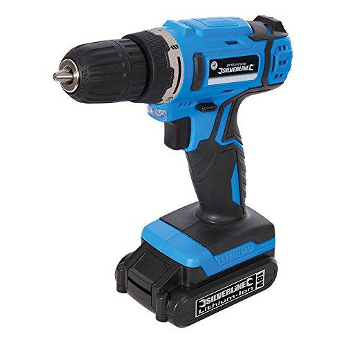 Silverline 326579 Taladro atornillador, 230 V, Azul, 18 A
