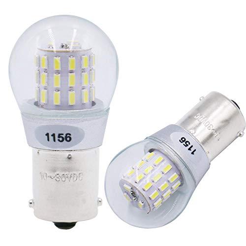 2 Stück Weiß 1156 7506 1141 Spiegelleuchten Glühbirne 10-30V DC - Für Rückfahrscheinwerfer