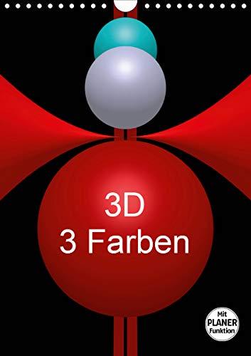 3D - 3 Farben (Wandkalender 2021 DIN A4 hoch)