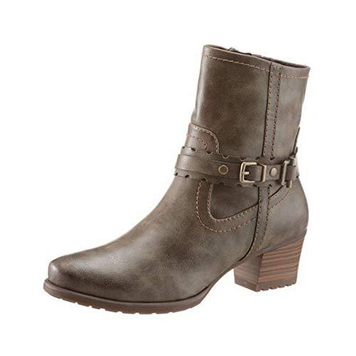 Tamaris Damen Stiefeletten Boots Stiefel Schuhe Olive braun : EUR 36 Schuhgröße EUR 36