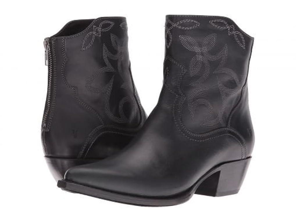 体現する薄いですインタネットを見るFrye(フライ) レディース 女性用 シューズ 靴 ブーツ アンクルブーツ ショート Shane Embroidered Short - Black Smooth Veg Calf [並行輸入品]
