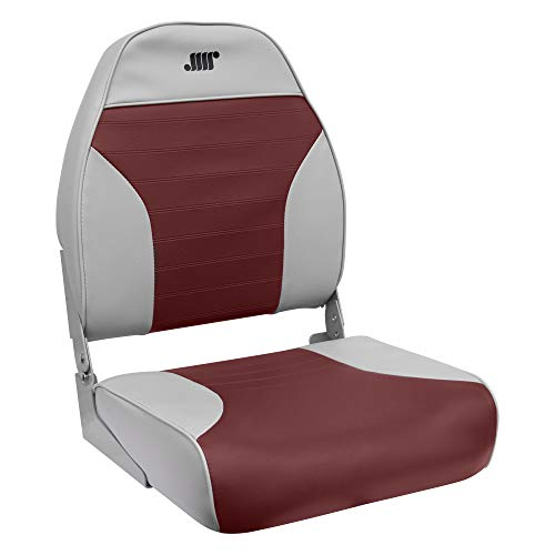 Wise 8WD588PLS-661 Standard High Back Seat, Grey/Red