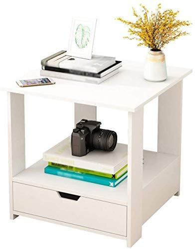 File cabinets Nachttisch Mini Haushalt Montage kleiner Nachttisch Spind-Aufbewahrungsbox Korridor Beistelltisch 50 x 50 x 51 cm Beistelltisch (Farbe: Weiß)