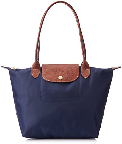Longchamp Le Pliage Tote Shoulder Bag, Navy Blue, Medium