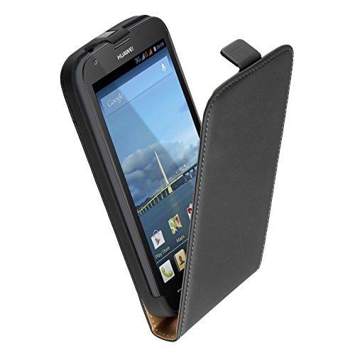 yayago Flip Hülle für Huawei Ascend Y600 Tasche Schwarz