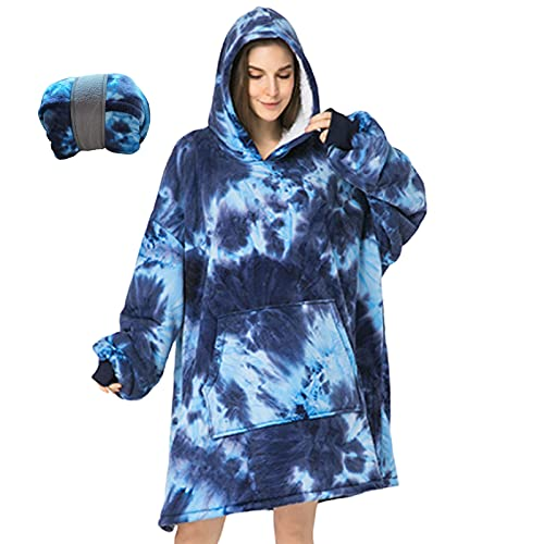 Wearable Blanket Hoodies with Sleeves and Huge Pockets, Super Warm Blanket Sweatshirts for Men and...