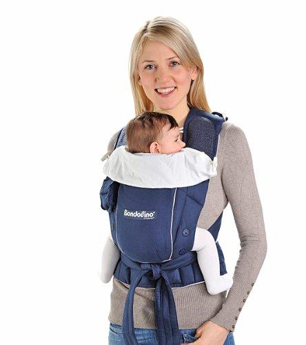 Bondolino Babytrage inklusive Bindeanleitung, leicht marine-creme