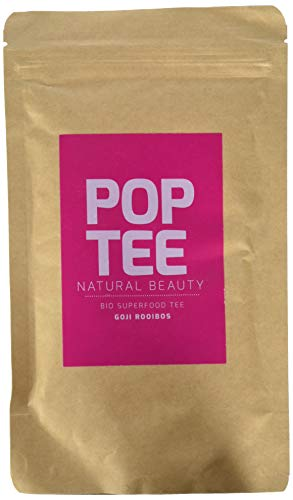 POP TEE Goji Rooibos Tüte, Roiboostee, Superfood, Natural Beauty, 2er Pack (2 x 60 g)