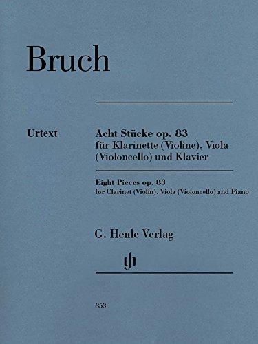 Acht Stücke op. 83 für Klarinette (Violine), Viola (