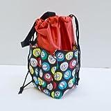 6 Pocket Mini Bingo Ball Designer Bag (Red)