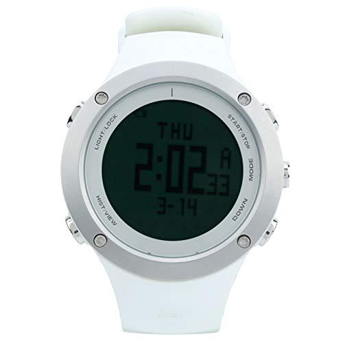 Alomejor Reloj de esnórquel Reloj de Pulsera Deportivo multifunción Impermeable Ajuste Inteligente Clásico Hombres Mujeres Deporte acuático(Blanco)