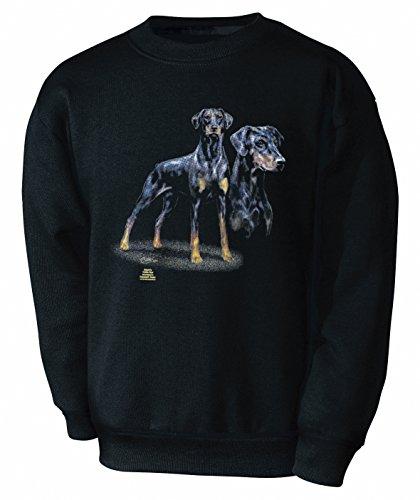 Fan-O-Menal Textilien Kinder Sweatshirt mit Hundemotiv - Dobermann - 08673 Gr. 110-164 - ©Kollektion Bötzel - Size 110/116