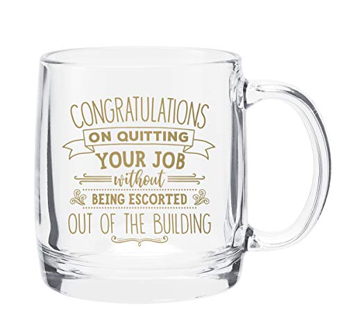 Bad Bananas - Goodbye Farewell Gifts For Coworkers - Congratulations On Quitting Your Job Without Being Escorted Out Of The Building - Glass Mug