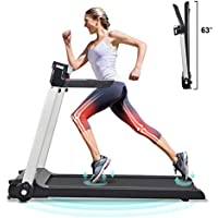FISUP Foldable Treadmill Walking Pad with LED Display, Phone Holder, Speed Control Handle & Transport Wheel