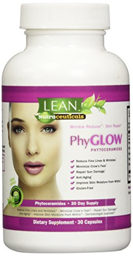 Lean Nutraceuticals Natural Phytoceramides 350mg - All-Natural Plant Derived Skin Restoring Supplement Reduce Wrinkles and Look Younger Dermatologist Recommended Ceramides   30 Capsules