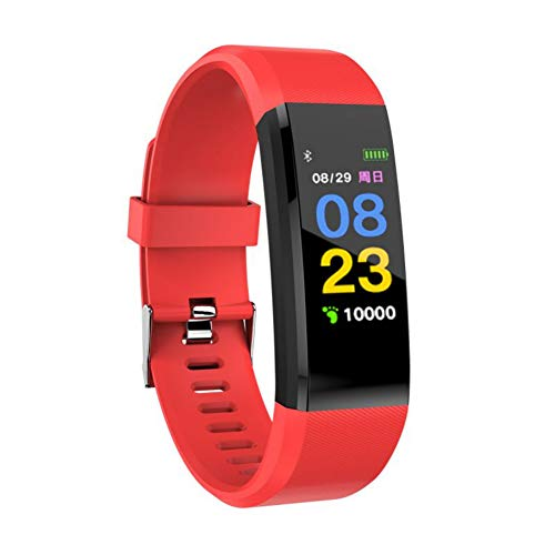 TEEKOO - Reloj de Pulsera Inteligente Impermeable, 115 Plus, tensiómetro de la presión Arterial, medidor de frecuencia cardíaca, Pulsera de Fitness para Deportes al Aire Libre