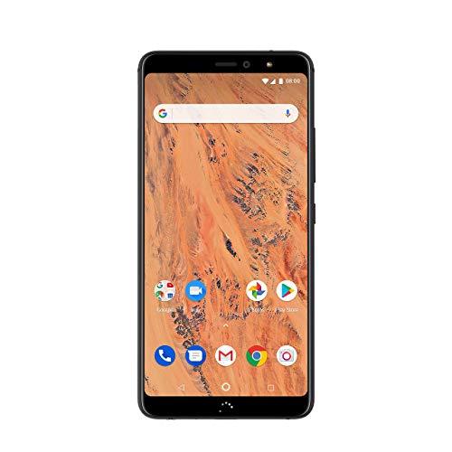 BQ Aquaris X2 - Smartphone de 5.65' (Wi-Fi, 3 GB de RAM, Memoria Interna de 32 GB, Bluetooth 5.0, Dual cámara de 12 MP y 5 MP, Android 8.1.0 Oreo), Color Carbon Negro