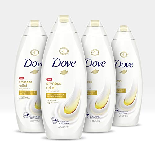Dove Body Wash For Dry Skin Dry Oil Moisture Sulfate-Free Bodywash With Moroccan Argan Oil 22 oz, 4 Count
