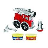 Play Doh Set de camión de Bomberos Wheels niños a Partir de 3 años, con 2 Botes de plastilina no tóxica