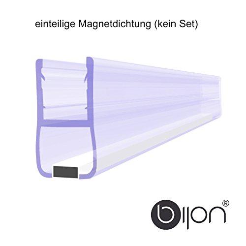 0 Grad Magnetprofil Duschtürdichtung (Einteilig) | Weiße Magneten | Für 5-6mm Glastärke