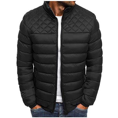 Otoño y el Invierno de la Juventud corto cuello de pie chaqueta de algodón slim Down de los hombres