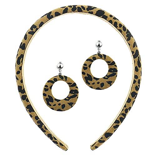 Pendiente Mujer Los Pendientes De Pendientes De Leopardo Dieja De Pendientes Cientos Cable Tarjeta Imitación De Cuero De Cuño De Piel-Combination-1