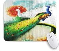 マウスパッド 個性的 おしゃれ 柔軟 かわいい ゴム製裏面 ゲーミングマウスパッド PC ノートパソコン オフィス用 デスクマット 滑り止め 耐久性が良い おもしろいパターン (カップル油絵アフロ)