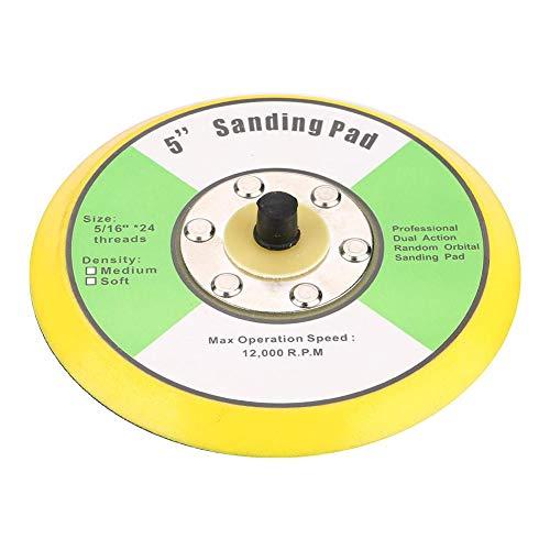 Krok och slinga slipdyna, lätt krok och ögla bakplåt, hållbar universell för elektrisk poleringsmaskin alla typer av självhäftande sandpapper (12,7 cm)