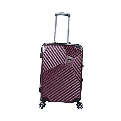 Yamyannie Maleta con ruedas giratorias, maleta de viaje de negocios, 50 cm, 24 pulgadas, para vacaciones, color morado, tamaño: 60 cm