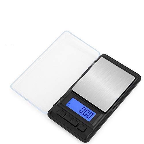 Digitale weegschaal, mini-zakweegschaal, led-achtergrondverlichting, elektronische weegschaal ~ 500 g, voor sieraden, medicijnen, melkpoeder, koffie, huisdiervoer en andere 100g/0.01g 100g/0.01g