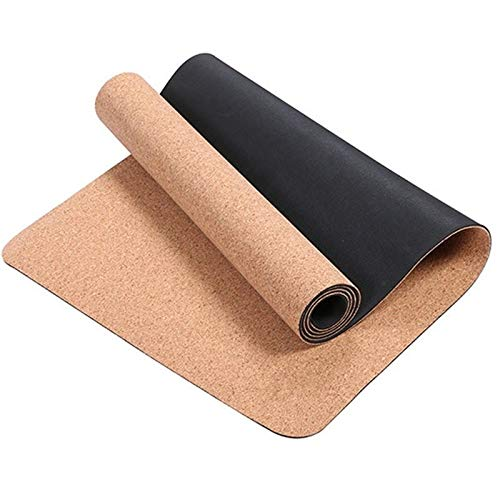 KOXG-S Alfombra de Yoga Antideslizante TPE Cork Yoga Mat Natural Fitness Pilates Mat Gimnasia Deportiva Fitness Herramienta 3MM Esteras