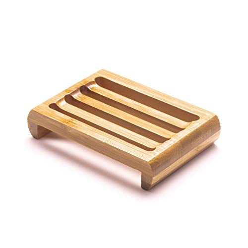 New Living Bamboo Soap Dish | Bamboo Soap Tray | 11cm x 7.5 cm | Eco Product, Eco Friendly Gift (1)