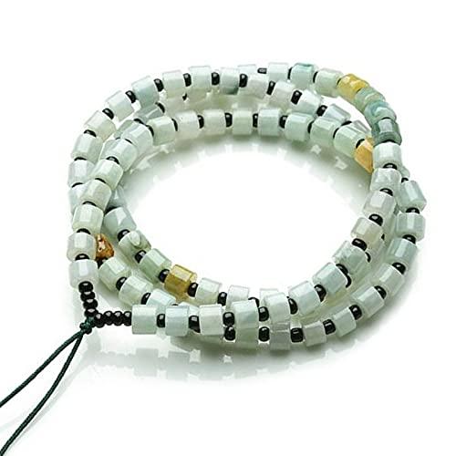 YUNHE Collar con Colgante de Jade Esmeralda Natural para Compromiso, Aniversario, Regalo de Boda, joyería de Jade para Mujeres y Hombres