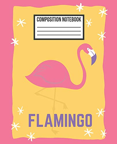 Composition Notebook: Yellow & Pink Sparkle Flamingo Wide Ruled Blank Lined for girls, kids, teens, students, teachers, school, home, college writing ... (Flamingo Composition Diary Journal, Band 1)
