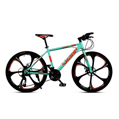 Kays Mountain Bike,26 Inch Hard-tail Mountain Bicycle,Dual Disc Brake And Front Suspension Fork,Mag Wheels (Color : Green, Size : 24-speed)