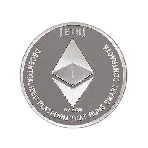 Shinekoo Silber Ethereum Coin Plate Replica Kunst Sammlung physisches Geschenk Nicht Währung Kopieren Münzen